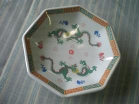 メラミン八角皿 竜彩